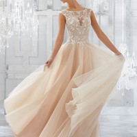 Blu by Morilee 5567 Mirella Soft Tulle & Lace Ball Gown Wedding Dress