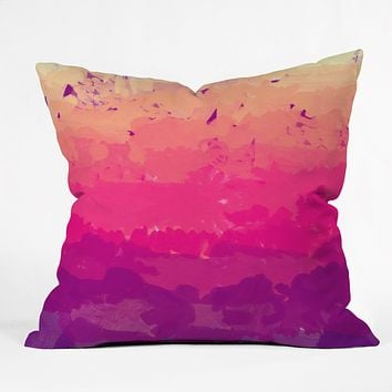 Rebecca Allen A Study In Purple Throw Pillow