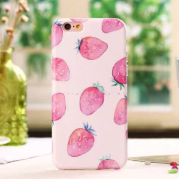 Watercolor Strawberries Case for iPhone 6 6s 6 6s Plus