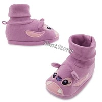 Licensed cool Lilo & Stitch ANGEL Purple BABY Costume Dress Up SHOES SLIPPERS Disney Store NEW