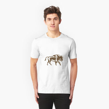 'American Bison Woodcut' T-Shirt by patrimonio