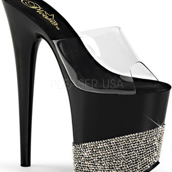 Platform Slide With 8 Inch Heel Stripper Shoes