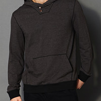 Modernist Buttoned Hoodie