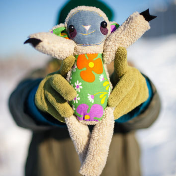 July Sale.It was 70 USD and now is 50 USD . Daisy  the sheep soft art toy by Wassupbrothers