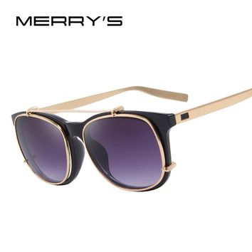 MERRY'S Men Steampunk Square Sunglasses
