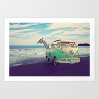 NEVER STOP EXPLORING THE BEACH Art Print by Monika Strigel