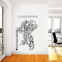Transformers Wall Decal,Prime Wall Sticker,Bumblebee wall decal,Kids Wall sticker,Bedroom Wall Sticker,Nursery wall decal kau 255