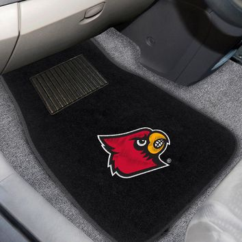 """Louisville 2-pc Embroidered Car Mats 18""""x27"""""""