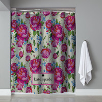"New Cheap Kate Spade Classic Pink Floral Exclusive Design Shower Curtain 60""x72"""
