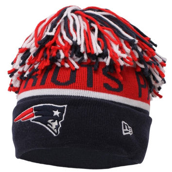 New England Patriots New Era The Enthusiast Knit Hat - Navy Blue