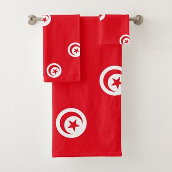Tunisia, flag bath towel set