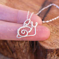 Snail Pendant, CHARM ONLY, Sterling Silver, Wire Jewelry