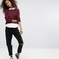 Only 2 In 1 Sweater With Shirt at asos.com