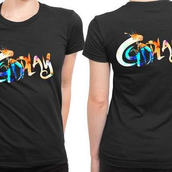 CREYH9S Coldplay Title 2 Sided Womens T Shirt