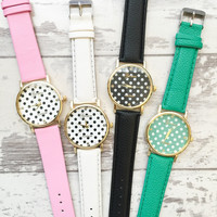 Pretty Polka Dot Watches #W32