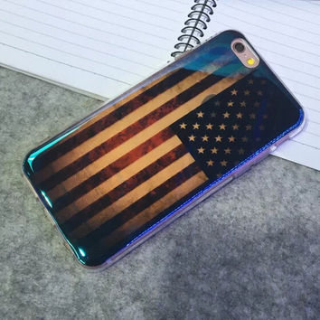 Shine American Flag Case Cover for iphone 6 6s Plus Gift 223