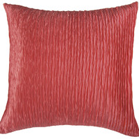 "Gather on Both Sides Coral Pillow Cover (18"" x 18"")"