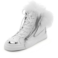 Giuseppe Zanotti Leather & Fur Sneakers