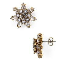 MARC JACOBS Pointy Strass Flower Stud Earrings | Bloomingdales's