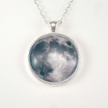 Full Moon Necklace by cellsdividing on Etsy
