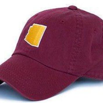 Arizona Tempe Gameday Hat in Maroon by State Traditions
