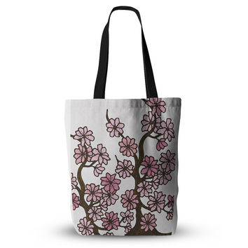 """Art Love Passion """"Cherry Blossoms"""" White Pink Cutting Board Everything Tote Bag"""