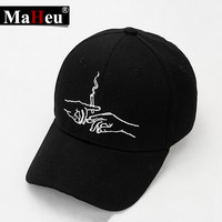 Dad hat Real Friends Baseball Cap Clamp Smoke Novelty Solid Adjustable Curved Chapeau Visor Dad Hats 2017 100% Pure Cotton