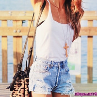 Mystery Summer Outfit - High Waisted Shorts - Summer Tank Top - Pick Your Sizes