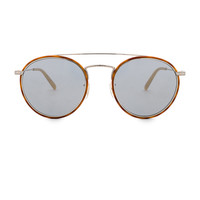 Oliver Peoples Ellice in Amber Tortoise & Blue Goldtone