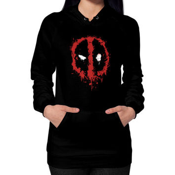 Deadpool Splatter Hoodie (on woman)