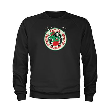 Obsessive Christmas Disorder Youth-Sized Crewneck Sweatshirt