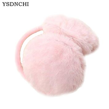 Warm Adult Children Winter Women Men Earmuffs Lovers Ear Warmer Plush New Plain Teenage Student Mother Girl Ear Muffs E001