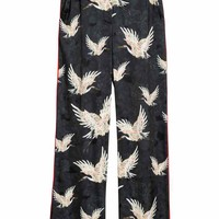 Patterned trousers - Black/Birds - Ladies | H&M GB