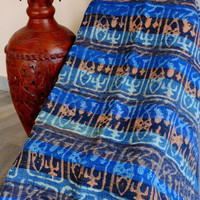 Cotton Rag Rugs, Hand Block Printed, Chindi Rug, Made From Old Indian Saris, Blue Color Theme, Living Room Decor, Beach Mat