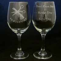 Hairdresser Good Day Bad Day Don't Even Ask Wine Glass beautician gifts, christmas gift, hairdresser gifts