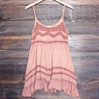 bohemian mini dress - dusty salmon