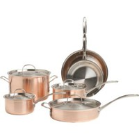Calphalon Tri-Ply Copper 10-Piece Cookware Set