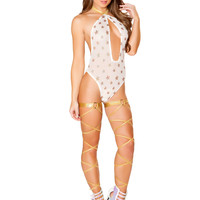 Shimmer Romper with Gold Stars