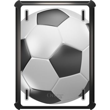 DistinctInk™ OtterBox Defender Series Case for Apple iPad - Soccer Ball 3D