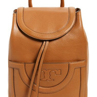 'Serif T' Leather Backpack