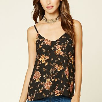 Woven Floral Print Cami