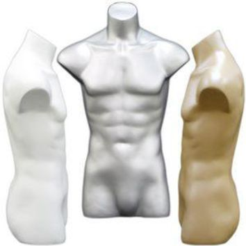 MN-149 Freestanding Armless Masculine Male Torso Form