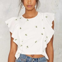 Daisy Does It Embroidered Top