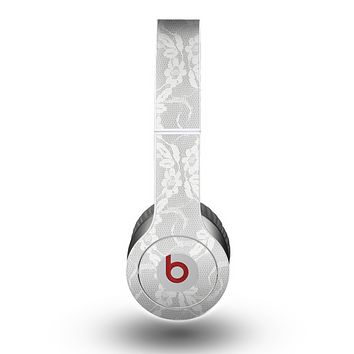 The White Floral Lace Skin for the Beats by Dre Original Solo-Solo HD Headphones