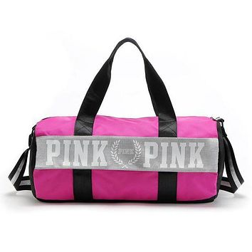 PINK Victoria's Secret Sport Yoga Satchel Travel Bag Shoulder Bag Crossbody Rose re I
