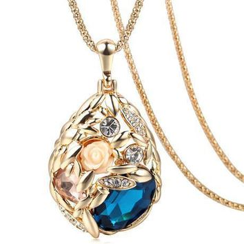 Austrian Crystal Jewelry Pendant Necklace