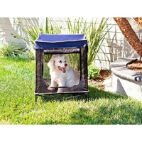 Quik Shade, 24 in. W x 24 in. D Small Navy Blue Instant Pet Kennel with Mesh Bed, 157148 at The Home Depot - Tablet