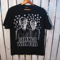 "Dr. Who ""Silence will Fall"" T- Shirt, Size Medium. The Silence, Tasha Lem, Sci-Fi t-shirt"