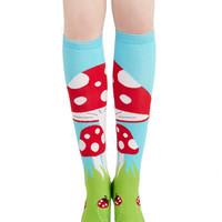 ModCloth Mushrooms Toadstool, Calm, and Collected Socks