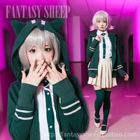 Super Dangan Ronpa 2: All Murders and Executions Chiaki Nanami Cosplay Clothes Dress Shirt Hoodie